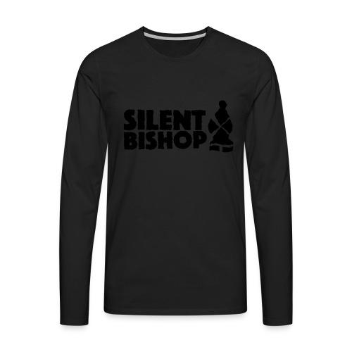 Silent Bishop Logo Groot - Mannen Premium shirt met lange mouwen