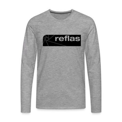 Reflas Clothing Black/Gray - Maglietta Premium a manica lunga da uomo