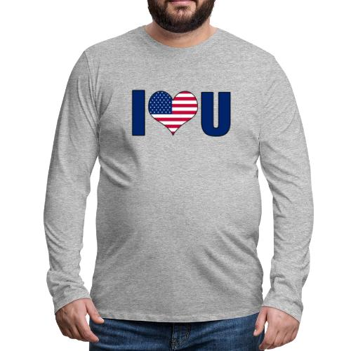 I love u USA - Men's Premium Longsleeve Shirt