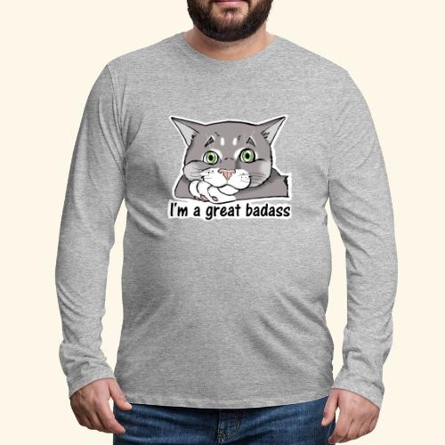 Nice Dogs CATS - Maglietta Premium a manica lunga da uomo