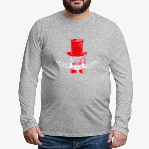 Elegant Hipster Fish - Mustache - Red - Männer Premium Langarmshirt