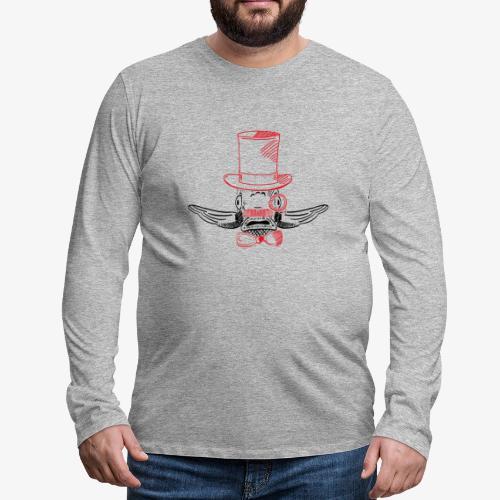 Elegant Hipster Fish - Mustache - Männer Premium Langarmshirt