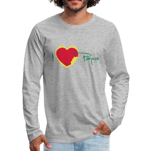 I love papa rastafari - T-shirt manches longues Premium Homme