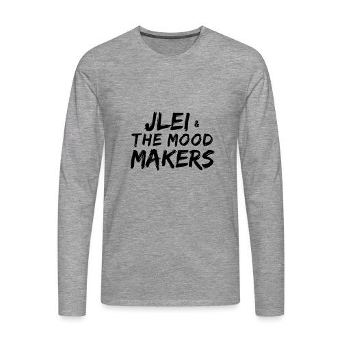 Jlei & The Mood Makers Schriftzug - Männer Premium Langarmshirt