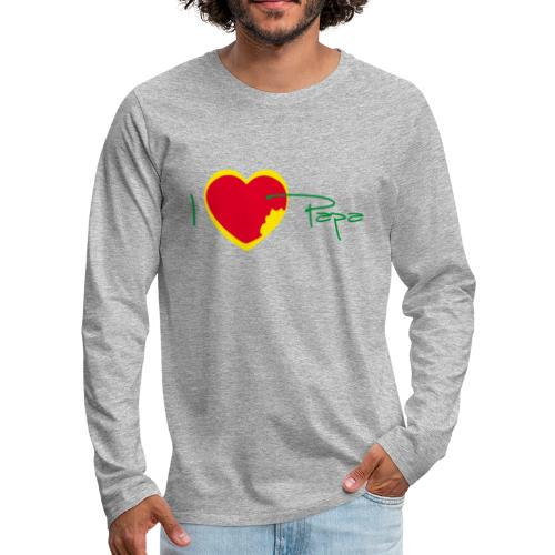I love papa - Rasta Vert Jaune Rouge - T-shirt manches longues Premium Homme
