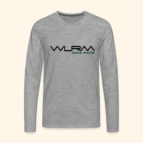 WLRM Schriftzug black png - Männer Premium Langarmshirt