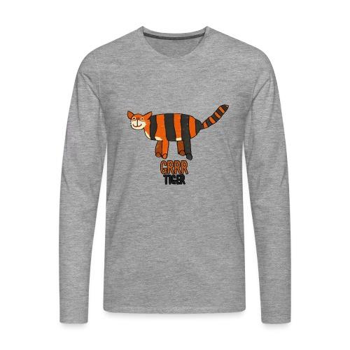 Tijger, Grrr - Mannen Premium shirt met lange mouwen