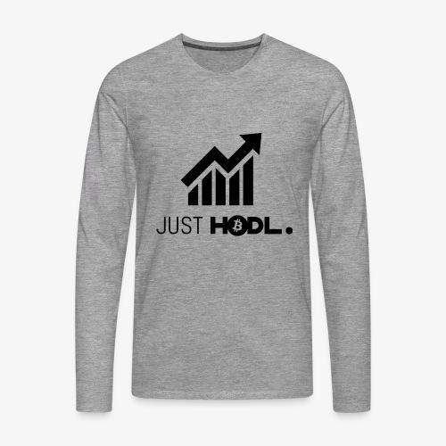HODL-btc-just-black - Men's Premium Longsleeve Shirt