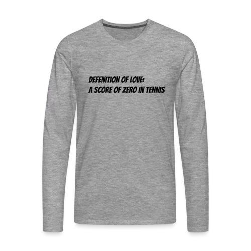 Tennis Love sweater women - Mannen Premium shirt met lange mouwen