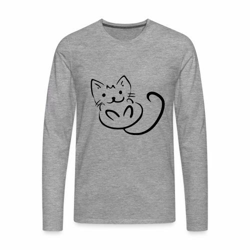 Kitten - Maglietta Premium a manica lunga da uomo