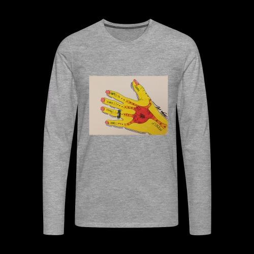9D8D600F D04D 4BA7 B0EE 60442C72919B - Herre premium T-shirt med lange ærmer