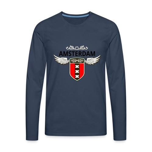 Amsterdam Netherlands - Männer Premium Langarmshirt
