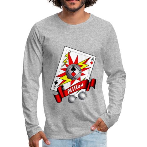 t shirt petanque milieu as des pointeurs as du tir - T-shirt manches longues Premium Homme
