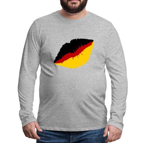 Deutschland Lippen Motiv - Männer Premium Langarmshirt