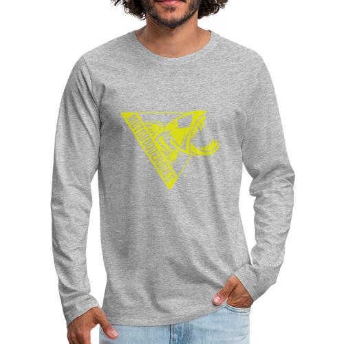 Logo Motoboquerones amarillo - Camiseta de manga larga premium hombre