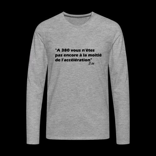 380 noir - T-shirt manches longues Premium Homme