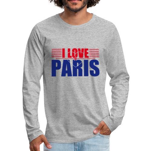 love paris - T-shirt manches longues Premium Homme
