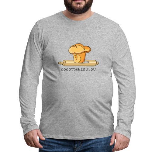 Brioche française et rouleau à patisserie - T-shirt manches longues Premium Homme