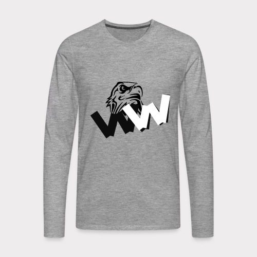 White and Black W with eagle - Men's Premium Longsleeve Shirt