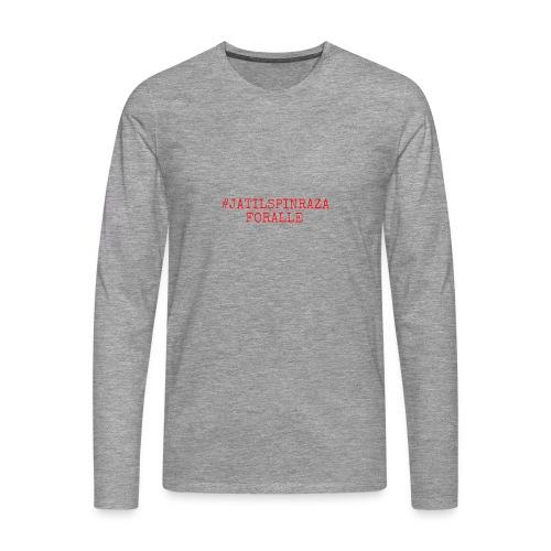 #jatilspinrazaforalle - rød - Premium langermet T-skjorte for menn
