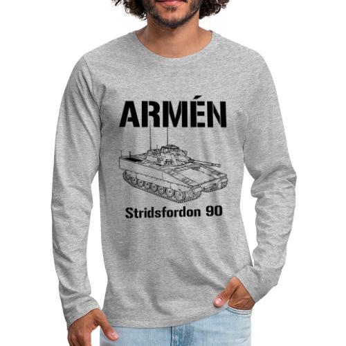 Armén Stridsfordon 9040 - Långärmad premium-T-shirt herr