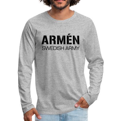 ARMÉN -Swedish Army - Långärmad premium-T-shirt herr