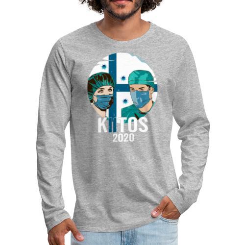 Kiitos 2020 - Miesten premium pitkähihainen t-paita