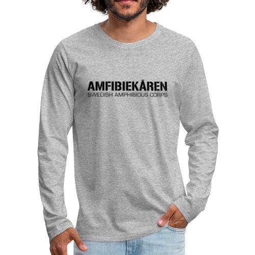 Amfibiekåren -Swedish Amphibious Corps - Långärmad premium-T-shirt herr
