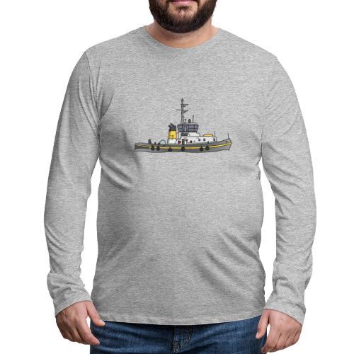 Schlepper Schleppschiff c - Männer Premium Langarmshirt