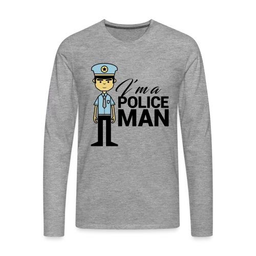 POLICEMAN - Maglietta Premium a manica lunga da uomo