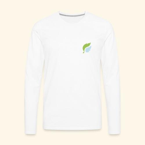 Akan White - Långärmad premium-T-shirt herr
