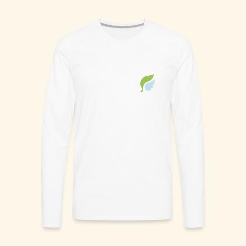 Akan White - Miesten premium pitkähihainen t-paita