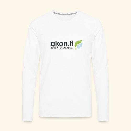 Akan Black - Miesten premium pitkähihainen t-paita