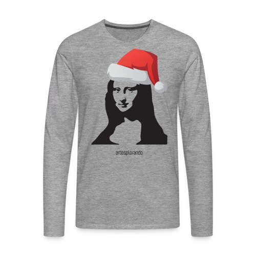 Monnalisa natalizia - Maglietta Premium a manica lunga da uomo