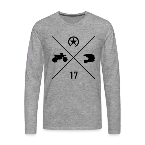 bike n helmet 17 - Men's Premium Longsleeve Shirt