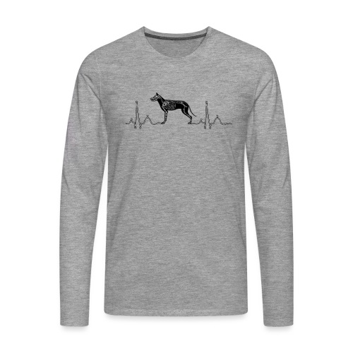 ECG met hond - Mannen Premium shirt met lange mouwen