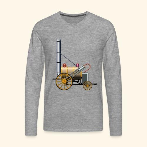 steam rocket locomotive train - Men's Premium Longsleeve Shirt