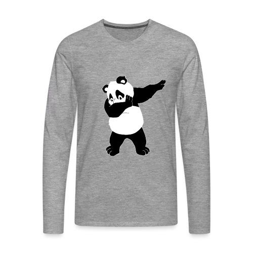Dabbing Panda Bär - Männer Premium Langarmshirt