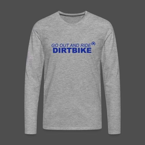jeździć dirtbike bl - Koszulka męska Premium z długim rękawem