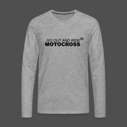 jeździć motocross bk - Koszulka męska Premium z długim rękawem