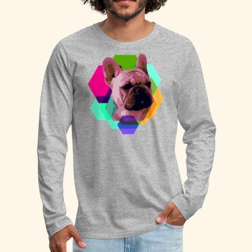 French Bulldog head - T-shirt manches longues Premium Homme