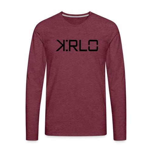 Kirlo Logotipo Negro - Camiseta de manga larga premium hombre