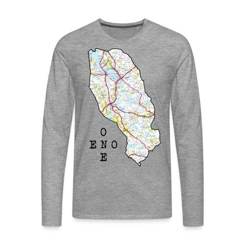 Eno/One maailmankartalle - Miesten premium pitkähihainen t-paita