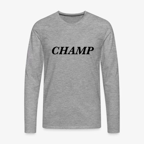 CHAMP - Männer Premium Langarmshirt