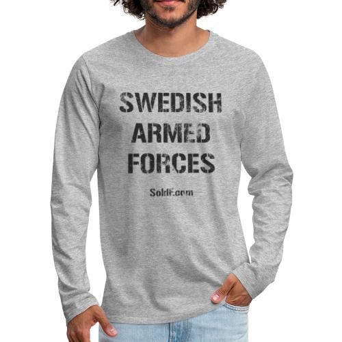 Swedish Armed Forces - Långärmad premium-T-shirt herr