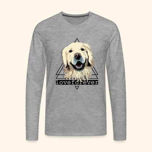 RETRIEVER LOVE FOREVER - Camiseta de manga larga premium hombre