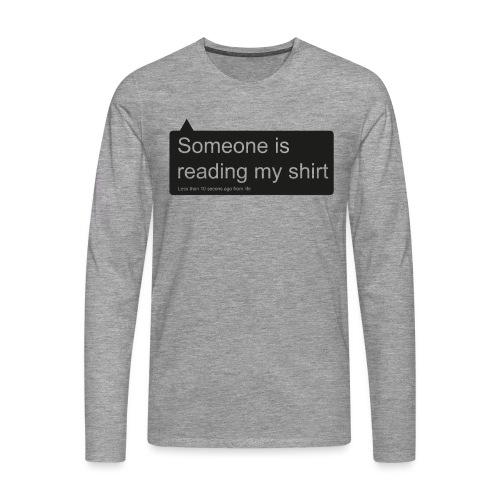 Text - Mannen Premium shirt met lange mouwen