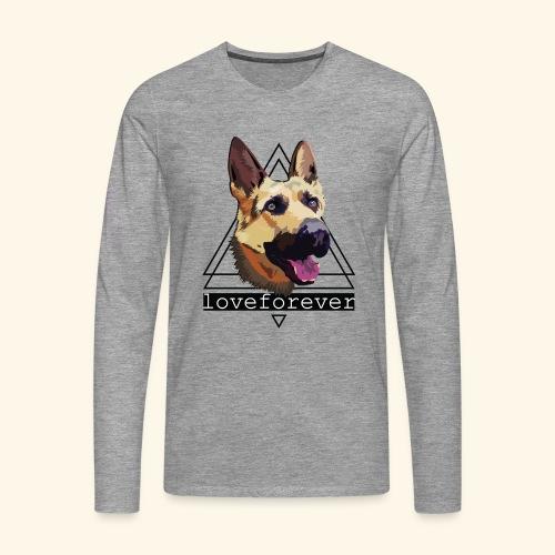 SHEPHERD LOVE FOREVER - Camiseta de manga larga premium hombre