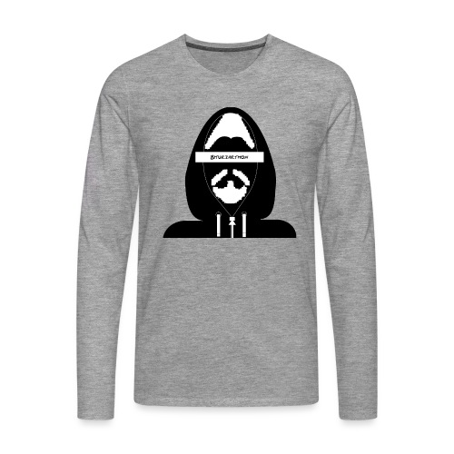 Biturzartmon Hoodie Motiv schwarz - Männer Premium Langarmshirt