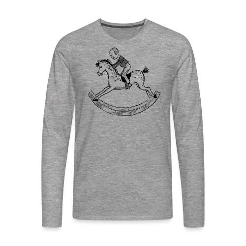 konik na biegunach - Koszulka męska Premium z długim rękawem